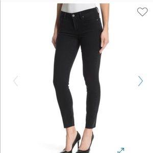 Black Paige Verdugo Ankle Raw Hem Jeans